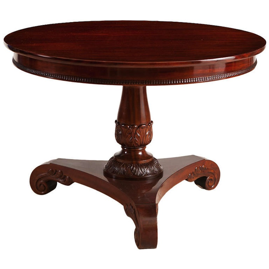 Round pedestal table best dining table ideas for Pedestal table