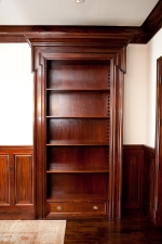 Custom Millwork -   Pair of Open Bookcases in Cuban Mahogany