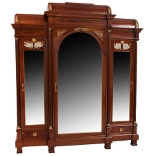 Large French Napoleon III Armoire in Mahogany, circa 1870