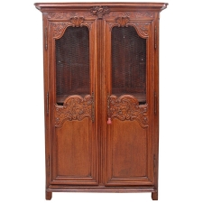 French Marriage Armoire in Carved Oak from Normandy