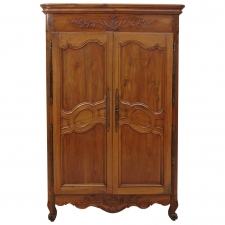18th Century French Armoire in Walnut Outfitted with 16 Linen Drawers