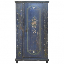 18th Century Wedding Armoire with Original Blue Paint