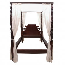 Acanthus-carved Four Poster Federal Bed (Queen Size), circa 1810
