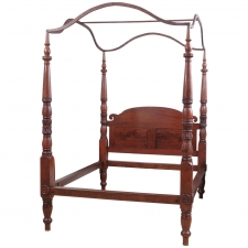 American Federal California King-Size Four-Poster Bed, circa 1810