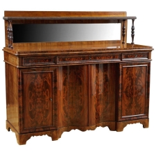 Christian VIII Sideboard in Mahogany with Serpentine Front, Denmark, circa 1840