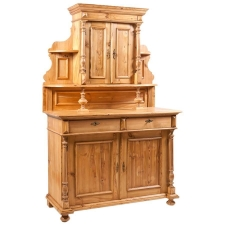 German Grunderzeit Buffet in Pine with full turned columns, c. 1880
