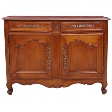 18th Century French Louis XV Walnut Buffet