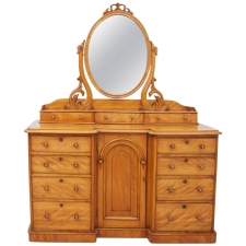Antique Dressing Table in Satinwood; England, c. mid 1800's