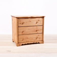 Antique German Three Drawer Chest in Pine, c. 1850