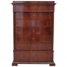 Biedermeier Tall Chest of Drawers, Northern Europe, c.1820