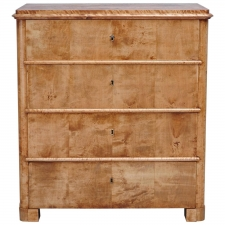Biedermeier Chest of Drawers in Birch