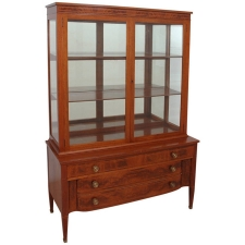 Mid Century Display Cabinet with Flight of Drawers