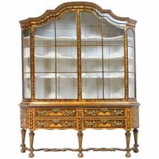 Dutch Vitrine/Glass Display Cabinet with Marquetry, circa 1800