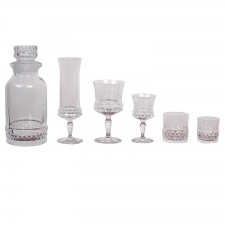 Orrefors Crystal Barware Service for 12 (67 pieces), Designed by Ingeborg Lundin
