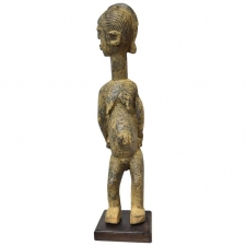 "West African Lobi People ""Bateba Ti Bala"" Fertility Figure in Carved Wood"