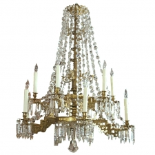 Swedish Twelve-Light Crystal Chandelier