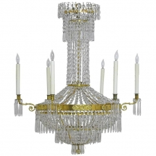 Swedish Gustavian/ Empire Crystal Chandelier with Ten Lights, circa 1790