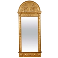 Swedish Empire/ Gustavian Mirror in Carved & Gilded Wood, c. 1825