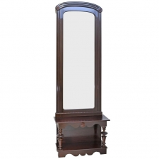 Tall Pier Mirror with Console in Dark Mahogany, Baltic Region, circa 1910
