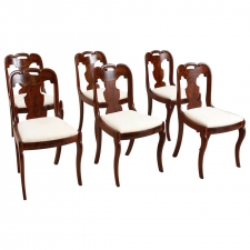 Set of Six American Empire Antique Dining Chairs, c. 1830