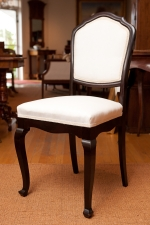Antique Chair in Sculpted French-Polished Hardwood