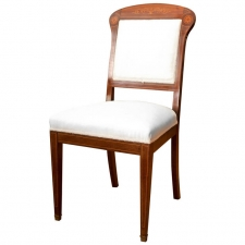 Single Scandinavian Chair in Mahogany with Satinwood Inlays, circa 1915