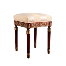 Empire Revival Stool in Mahogany with Ormolu, France, circa 1900