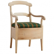 Swedish Potty Chair in Pine with Painted Chalk Finish, c. 1820