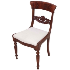 Single Danish Empire Side Chair in Mahogany, circa 1830