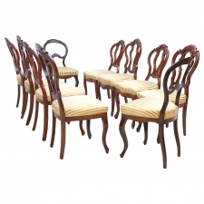 Collection of Ten Louis Philippe Chairs in Mahogany