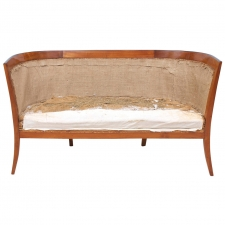 Austrian Biedermeier Settee or Sofa in Cherry Wood, circa 1815