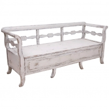 Karl Johan Swedish Bed Bench, circa 1820