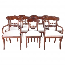 Set of 10 Karl Johan Swedish Dining Chairs