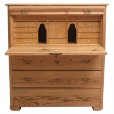 Biedermeier Fall-Front Secretary in Pine and Birch, circa 1840