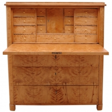 Swedish Biedermeier Chest with Fall-front Secretary in Birch, circa 1830