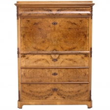 Karl Johan Walnut Fall-Front Secretary, circa 1845