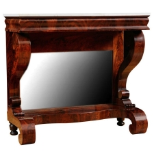 American Empire Pier Table in the Grecian Style in Mahogany, c. 1825