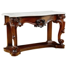 American Console Table in Mahogany with White Marble Top c.1835
