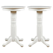 Pair of Pedestal Bar Tables