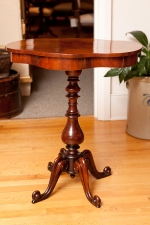 Side Table in Mahogany with Turtle-Top, c. 1850