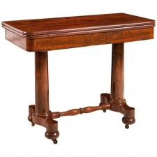 American Game Table in Mahogany, c. 1840