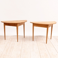 Pair of Swedish Demi-Lune Tables in Pine, c. 1790