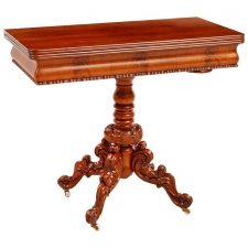 Rococo Revival Game Table, Scandinavian, circa 1850