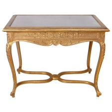 Belle Epoque Gilded Writing Table in the Style of Louis XV