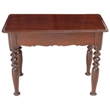 19th Century Dutch Guiana Table in Mahogany with Turned Legs