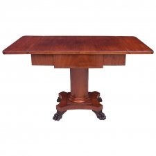 Biedermeier Writing Desk or Sofa Table in Mahogany