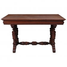 Small Renaissance Style Dining Table or Writing Desk in Oak