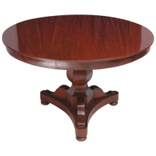 French Charles X Round Center Pedestal Table, circa 1825