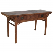 18th Century Qing Chinese Altar Table with Fine Carvings