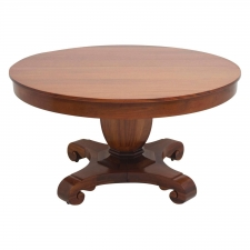 "American Empire ""Grecian Form"" Round Center Pedestal Table, circa 1880"